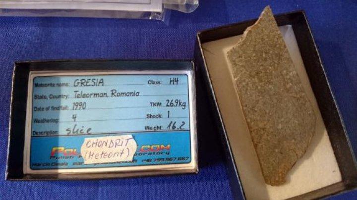 Un meteorit găsit a fost vândut pe bucăți. Cât costă o felie din rocă