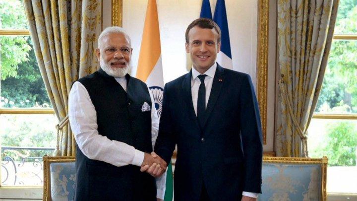 Macron şi Modi au inaugurat o centrală electrică solară construită cu sprijin francez