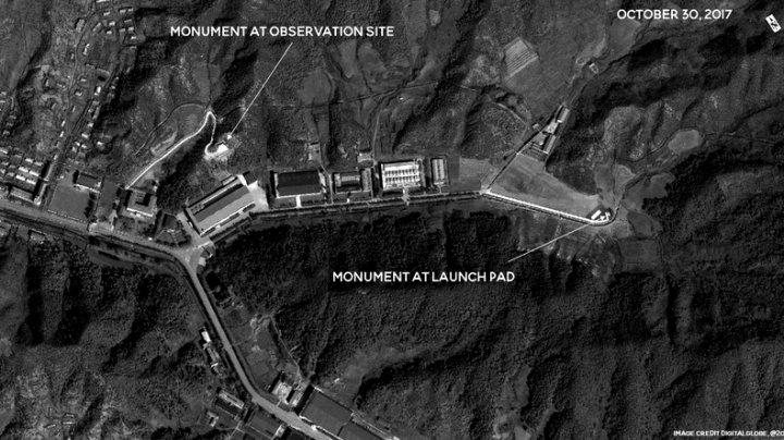 Coreea de Nord construiește monumente pe locurile din care au fost lansate rachetele balistice (FOTO)