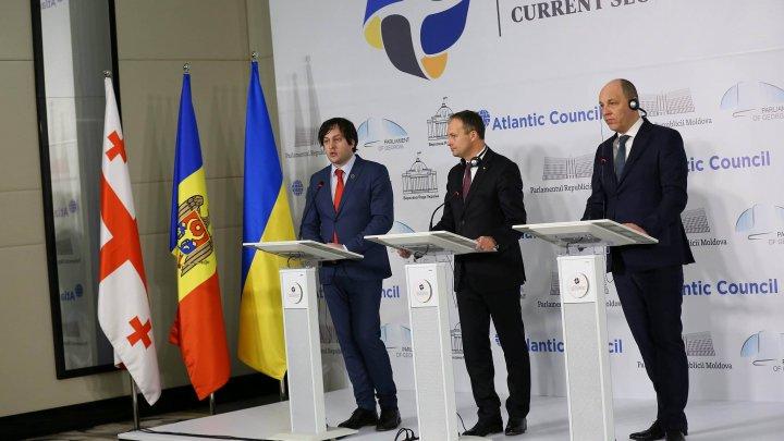 #parl4sec. Moldova, Georgia și Ucraina își unesc forțele pentru promovarea politicilor de apărare și securitate comune
