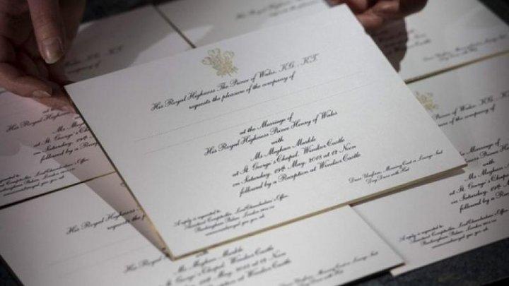 Cum arată invitaţiile la nunta prinţului Harry cu Meghan Markle