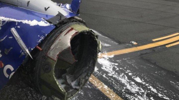 Compania Southwest spune că avionul al cărui motor a explodat în zbor ar fi fost lovit de o pasăre