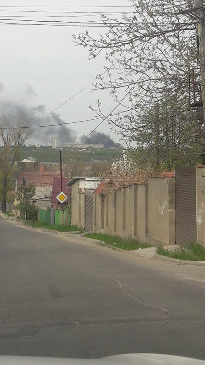 Incendiu puternic la Cimitirul Sfântul Lazăr din Capitală (FOTO)