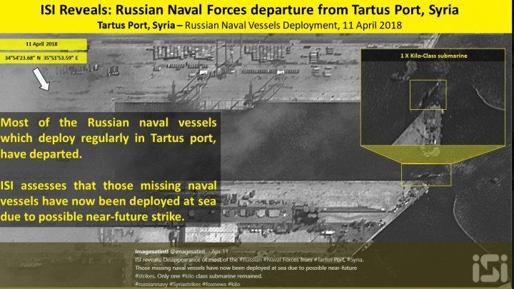 Rusia și-a retras navele din Siria și așteaptă coordonatele țintelor care vor fi lovite de SUA
