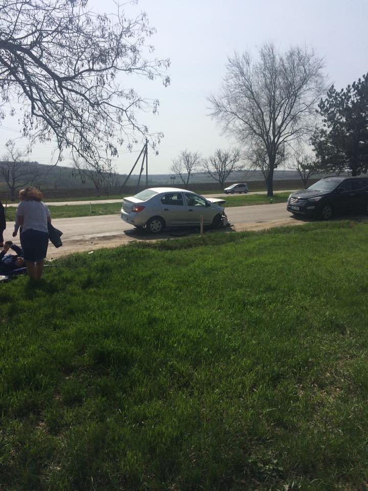 Accident rutier la Ciorescu. Patru persoane au ajuns la spital