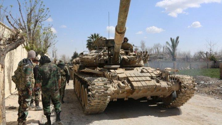 Armata siriană a eliberat un cartier al Damascului care era ocupat de reţeaua teroristă Stat Islamic