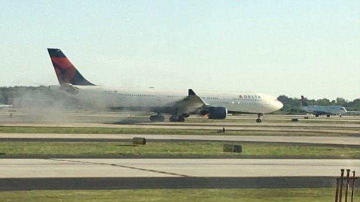 Un nou incident aviatic a avut loc în SUA. Motorul unui Airbus A333 a luat foc la scurt timp după decolare