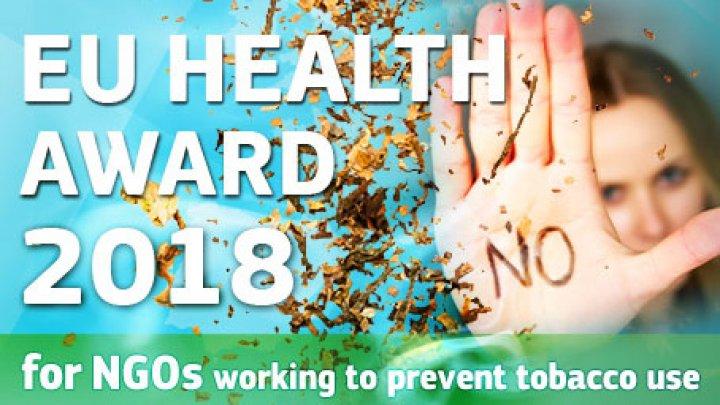 """Comisia Europeană lansează Premiul Uniunii Europene în domeniul sănătății pentru ONG-uri """"Ajutând tinerii să spună nu tutunului"""""""