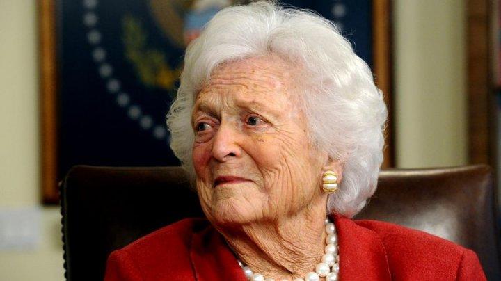 Fosta primă doamnă Barbara Bush a refuzat tratamentul medical pentru boala care îi pune în pericol viața