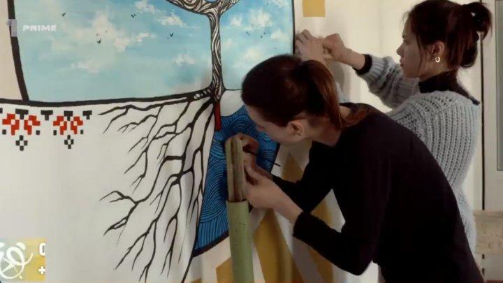 Terapie prin culori. Viitorii arhitecţi de la USM au pictat pereţii unei policlinici din Capitală (VIDEO)