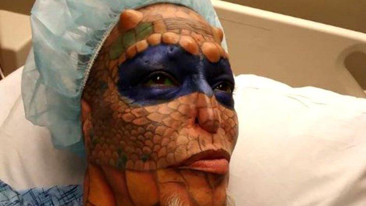 O femeie a cheltuit peste 60.000 de dolari pentru a-și împlini visul de a arăta precum un dragon. Cum arată acum (FOTO)