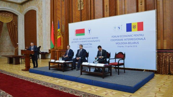 Circa 250 de agenți economici au participat la Forumul Economic pentru Cooperare Interregională Moldova-Belarus