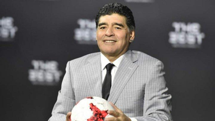 VISUL A DEVENIT REALITATE. Un copil kazah a jucat fotbal cu Diego Armando Maradona