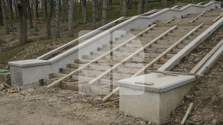 Condiţii mai bune! S-au alocat 3,5 milioane de lei pentru construcţia unei rampe la scările din parcul Valea Morilor