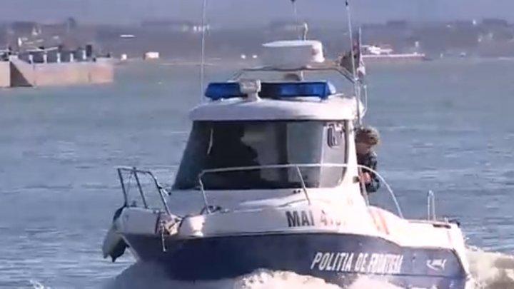 Urmărire cu focuri de armă, pe Marea Neagră. Momentul în care un bărbat a ieşit ilegal la pescuit (VIDEO)