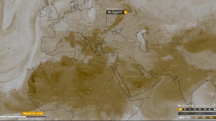 ATENŢIE! Un nor de praf saharian VA AJUNGE DISEARĂ în Moldova
