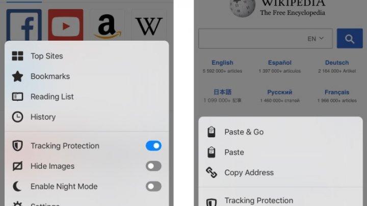 Firefox pentru iOS vine cu funcţia Tracking Protection activată în mod automat