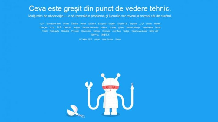 Twitter a picat pentru milioane de utilizatori. Ce mesaj a fost afişat