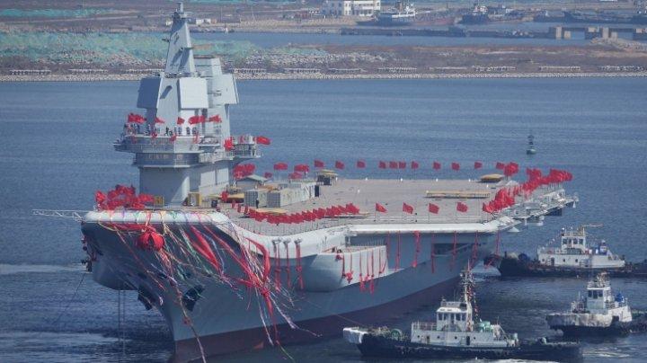 """Primul portavion """"made in China"""" începe testele pe mare, pe fondul creșterii tensiunilor cu SUA"""