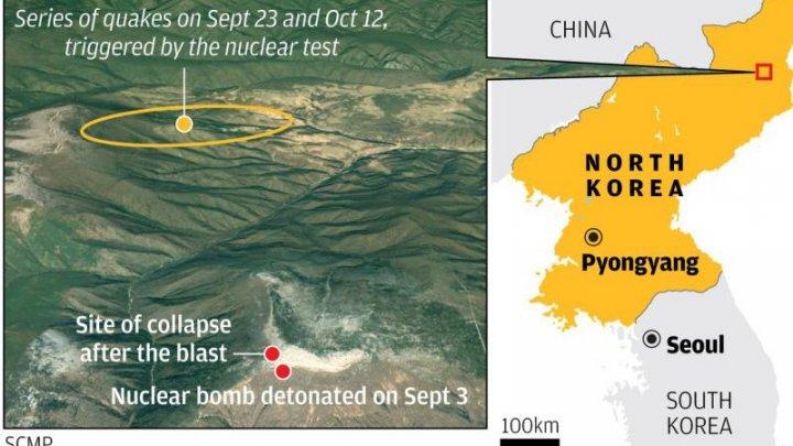 Coreea de Nord suspendă testele nucleare după ce şi-a distrus un munte şi poligonul de testare