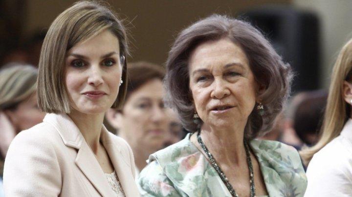 Scandal între membrii familiei regale din Spania. Regina a fost împinsă de noră (VIDEO)