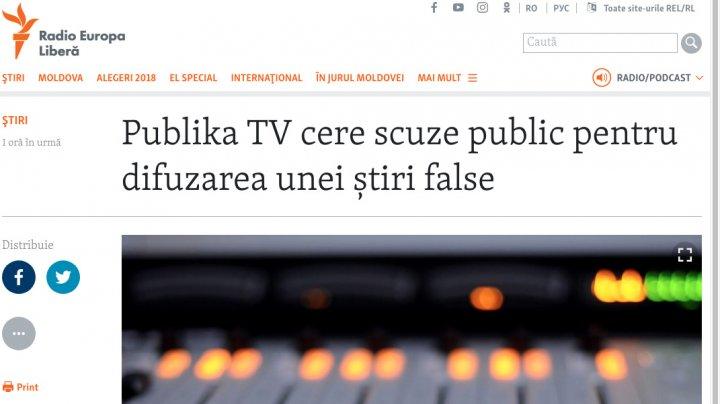 Europa Liberă minte cu nerușinare. Publika TV nu a difuzat nicio știre falsă