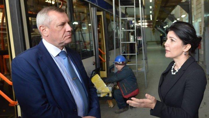 Silvia Radu s-a întâlnit cu Vladimir Koroli, directorul general al companiei Belkommunmash din Minsk