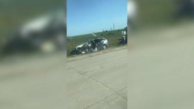 Un alt ACCIDENT GRAV, produs din cauza VITEZEI EXCESIVE. O maşină, făcută zob la Făleşti (VIDEO)