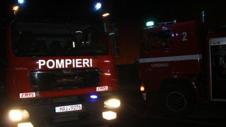 EXCLUSIV. Imagini din dronă de la incendiul de la Strășeni (VIDEO)