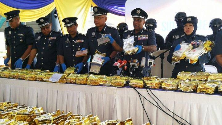 Captură URIAŞĂ de droguri în Malaezia. Cum au reuşit să ascundă contrabandiștii peste 1,2 tone de droguri