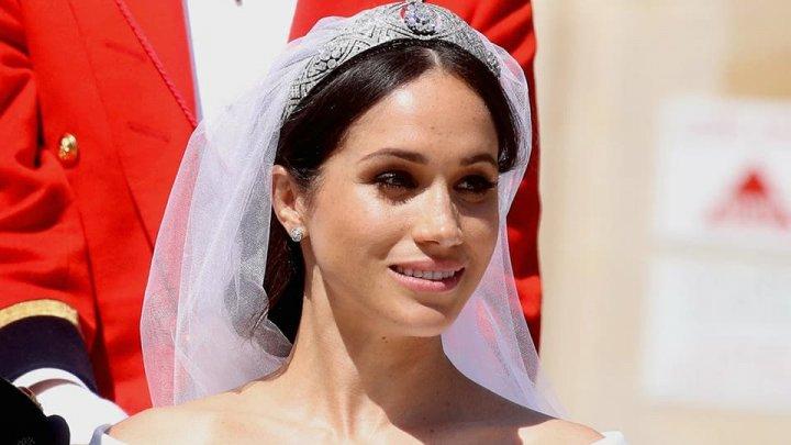 Nuntă regală în Marea Britanie. Ce simboluri au fost brodate pe voalul miresei