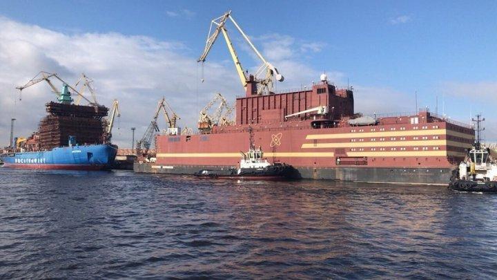 """""""Un Cernobîl plutitor""""! Prima centrală nucleară plutitoare va fi pornită de ruşi aproape de coastele SUA (VIDEO)"""