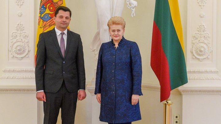Ambasadorul Serghei Mihov a prezentat scrisorile de acreditare Președintelui Republicii Lituania, Dalia Grybauskaitė