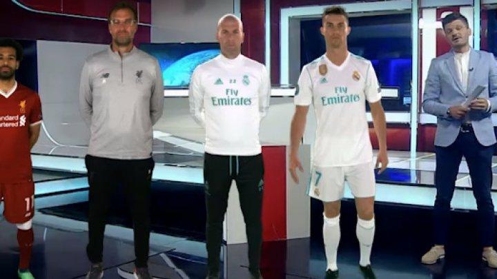 PREMIERĂ pentru Moldova! Jürgen Klopp, Cristiano Ronaldo şi Mohamed Salah, în platoul emisiunii Ştirile Dimineţii (VIDEO)