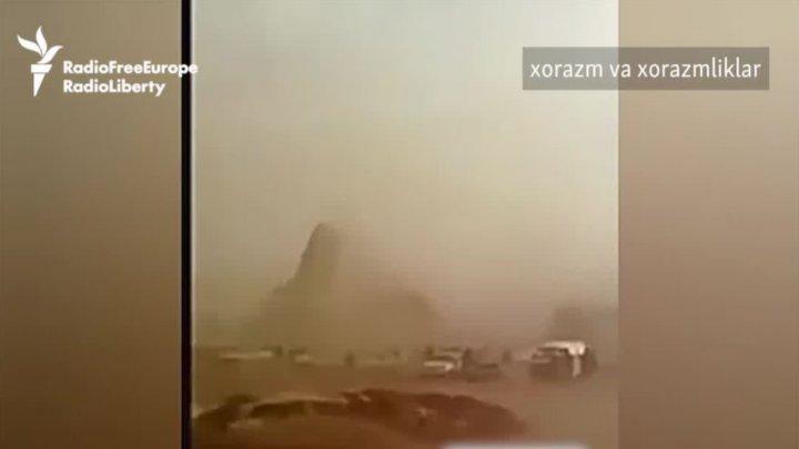 O furtună puternică de sare a lovit Uzbekistanul și Turkmenistanul (VIDEO)