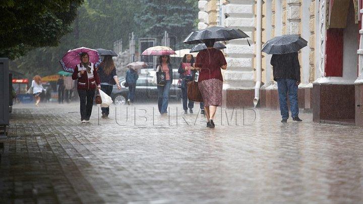 Vin ploile peste Moldova. Ce temperaturi ne aşteaptă în următoarele zile