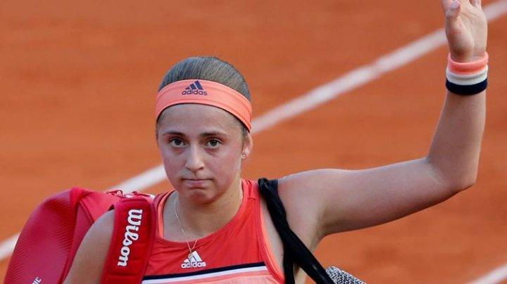 Jelena Ostapenko se declară dezamăgită după ce a fost eliminată de la Roland Garros