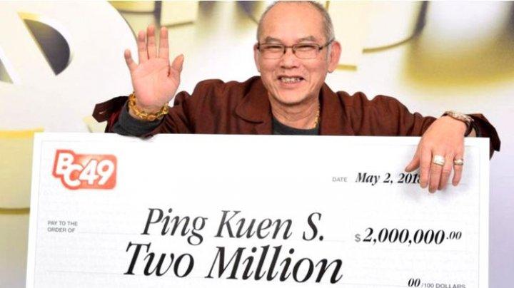 Un canadian a câștigat 2 milioane de dolari la loterie în ziua în care s-a pensionat. Ce va face cu banii