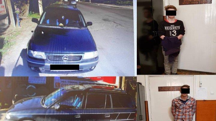 Doi minori, reţinuţi de poliţie după ce au furat un automobil din Durleşti