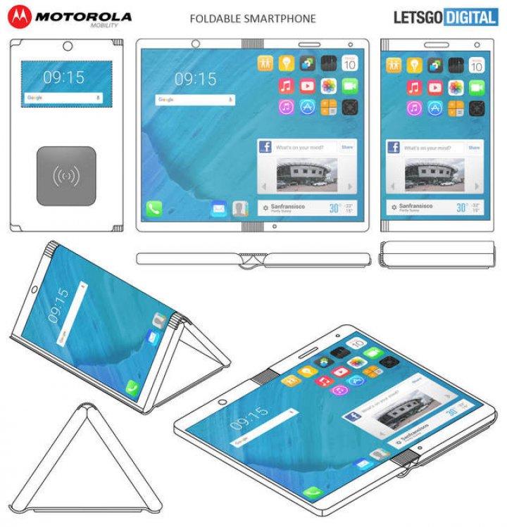 Motorola a brevetat un smartphone pliabil care pune ecranul la exterior