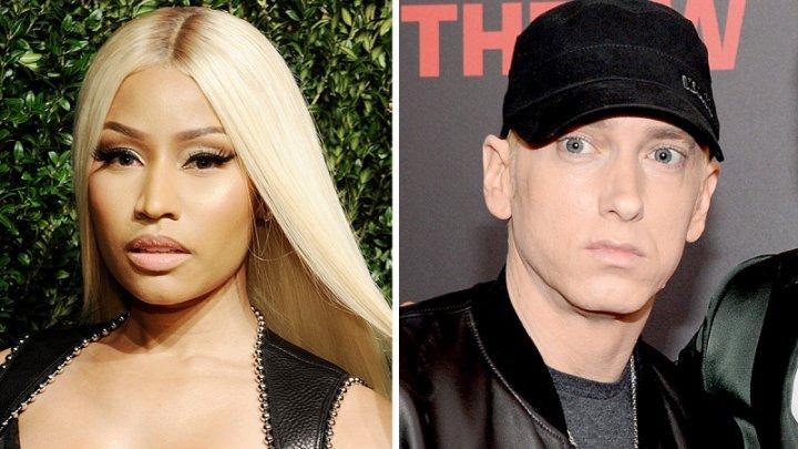 Cântăreaţa rap Nicki Minaj a confirmat pe Twitter că are o relaţie cu rapperul Eminem