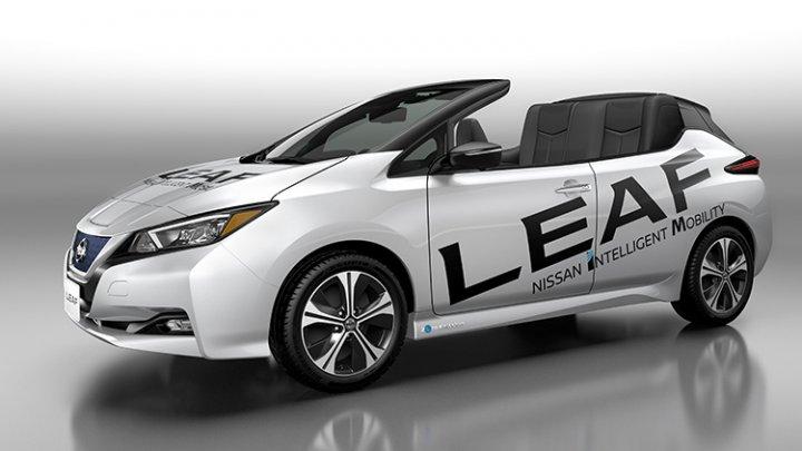 Nissan a pregătit o surpriză fanilor mașinilor electrice: O versiune decapotabilă pentru Leaf