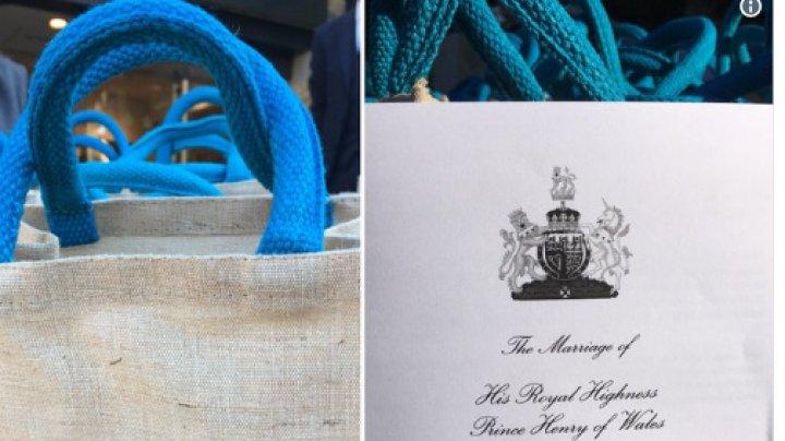 Mii de pungi cu cadouri pentru invitaţii de la nunta prinţului Harry şi Meghan Markle. Ce conţineau acestea