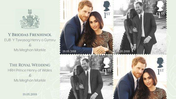 Poșta Regală britanică emite timbre cu prințul Harry și Meghan Markle