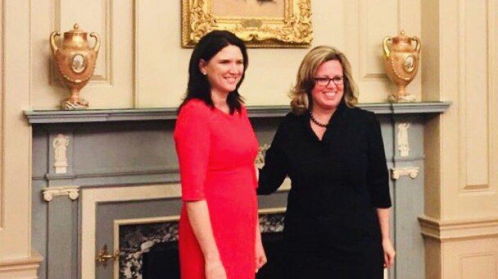 Ambasadorul agreat, Cristina Balan a prezentat copiile scrisorilor de acreditare la Departamentul de Stat SUA