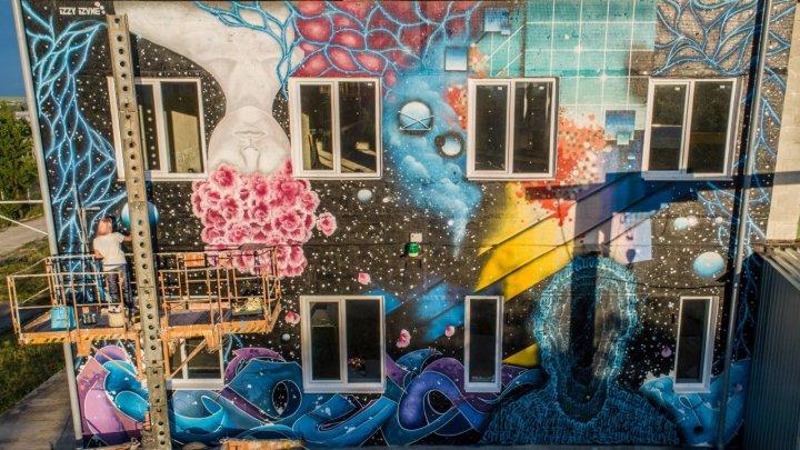 Artista Inna Jeleascova transformă pereţii clădirilor în adevărate opere de artă (VIDEO)