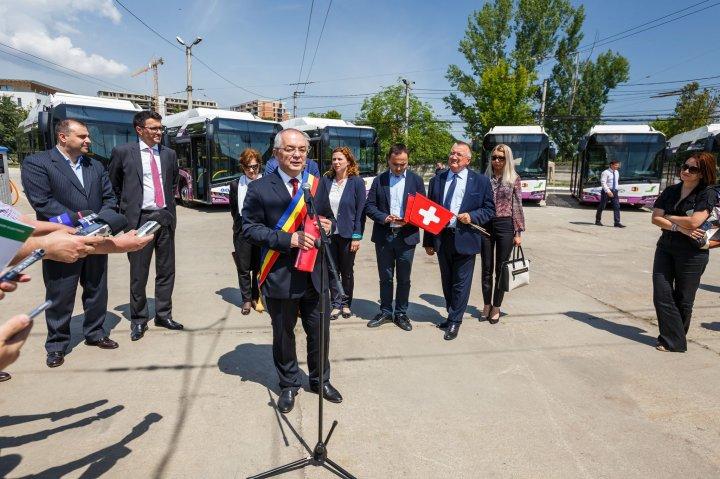 Premieră în România. Primele autobuze electrice au fost puse în circulație la Cluj-Napoca (FOTO)