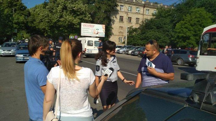 Poliția, pe urmele șoferilor din Bălți. Sunt verificate persoanele care nu au cuplată centura de siguranță