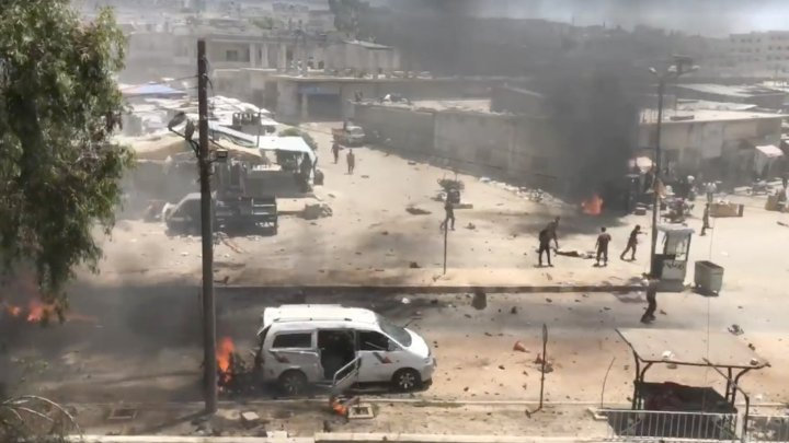 Cel puţin 15 persoane au fost ucise sau rănite în două explozii în Afrin
