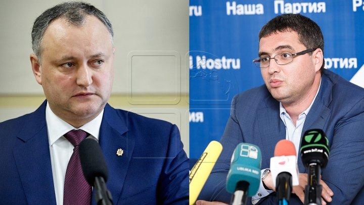 Usatîi susţine că Igor Dodon îl atacă prin intermediul presei din Rusia